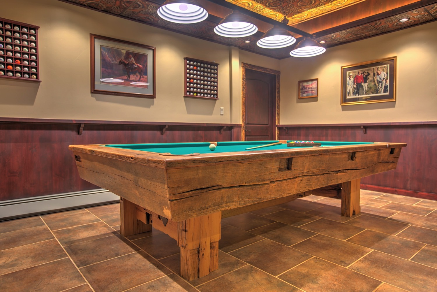 Timber pool table