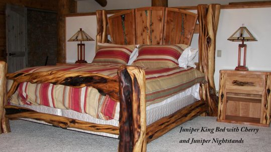 Juniper Log King Bed