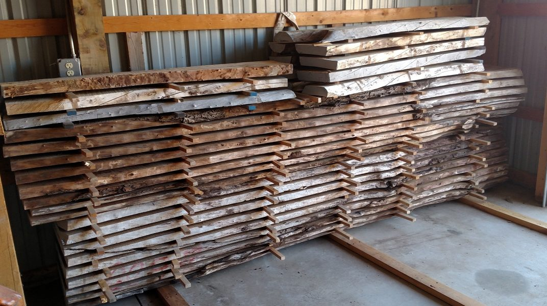 Wood Slabs stacked on the floor