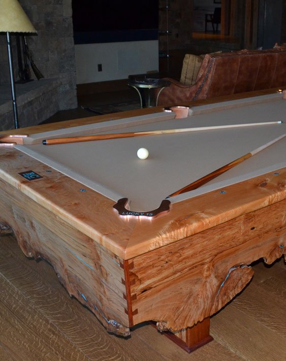 Custom Pool Table by Roaring Fork Custom Billiards