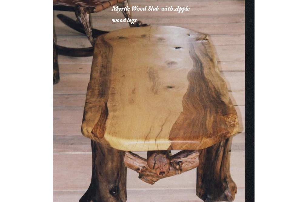 Myrtle Wood Bench