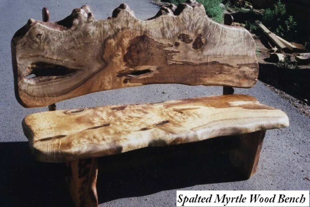Spalted Myrtle Wood Bench