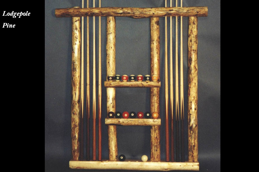 Lodgepole Pine Custom Cue Rack