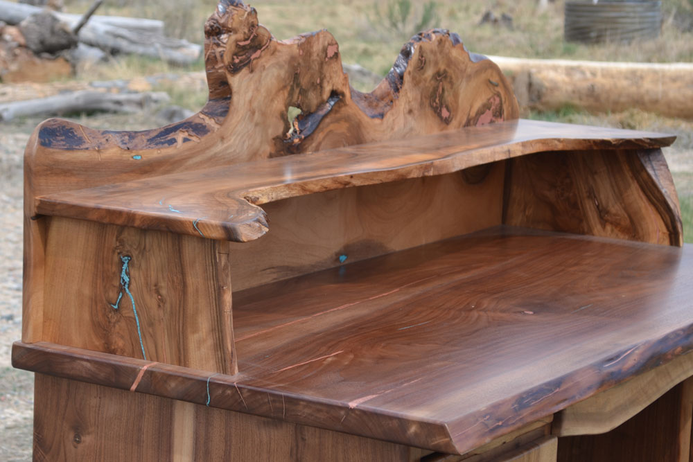 Walnut Desk by Roaring Fork Custom Billiards