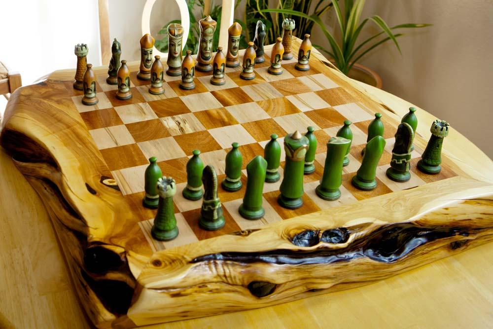 Custom Wood Chess Board