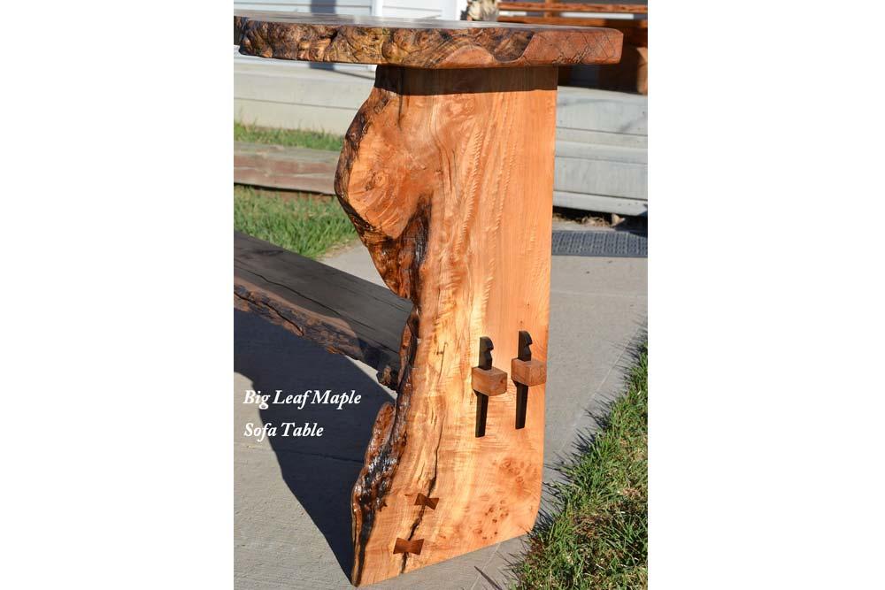 Big Leaf Maple Sofa Table