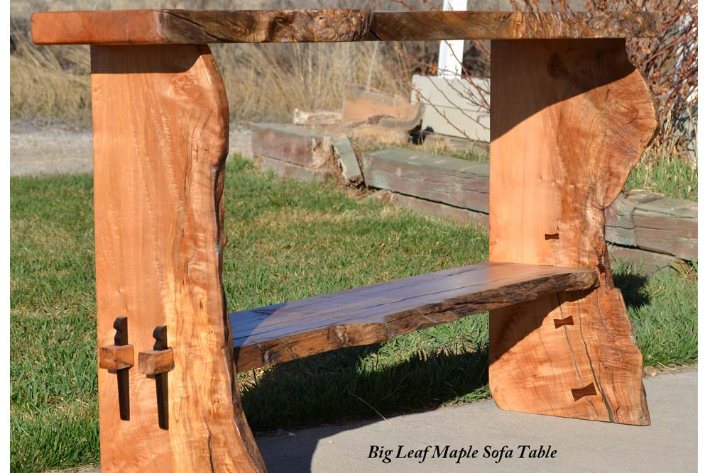 Big Leaf Maple Sofa Table
