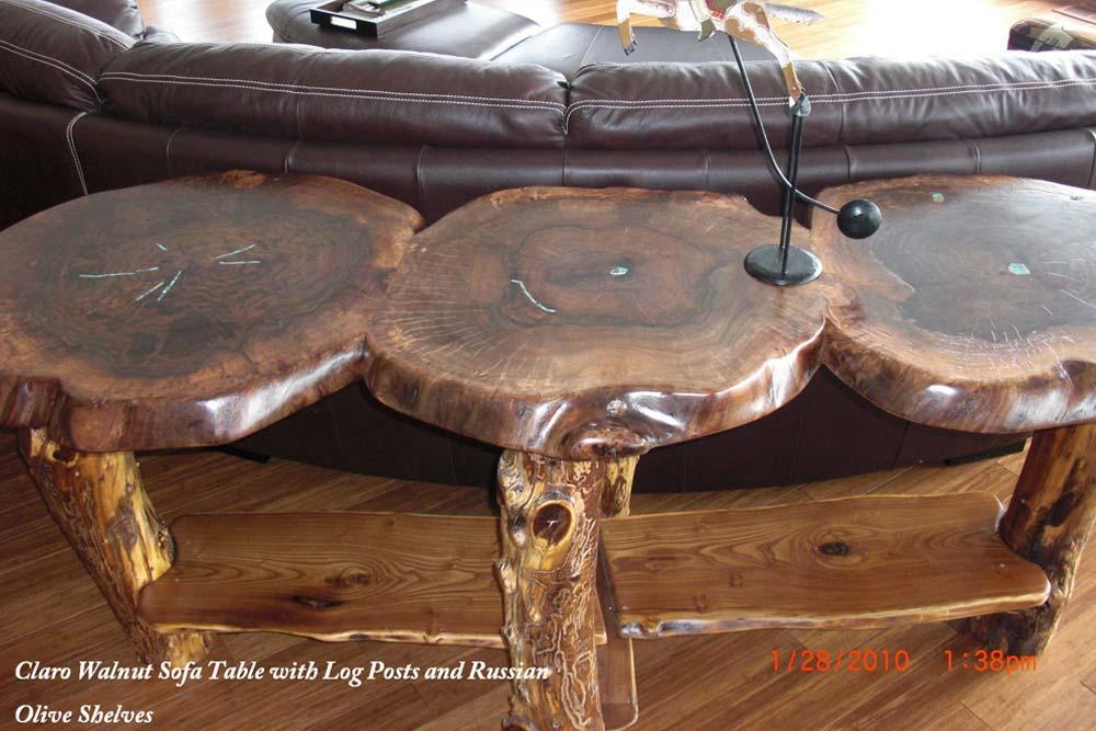 Claro Walnut Sofa Table