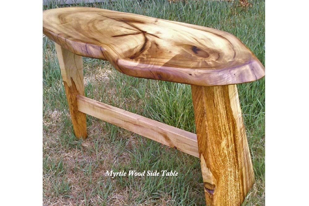 Myrtle Wood Side Table