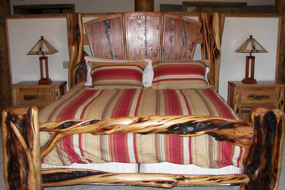 Log Bed by Roaring Fork Custom Billiards