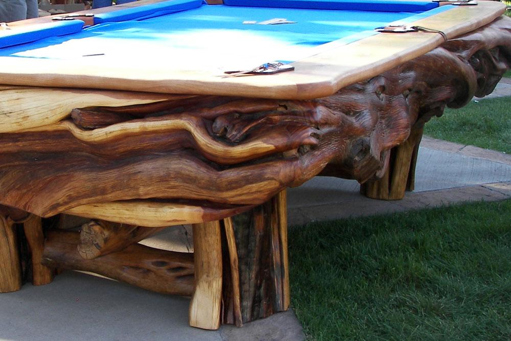 Custom Pool Table by Roaring Fork Custom Billiards
