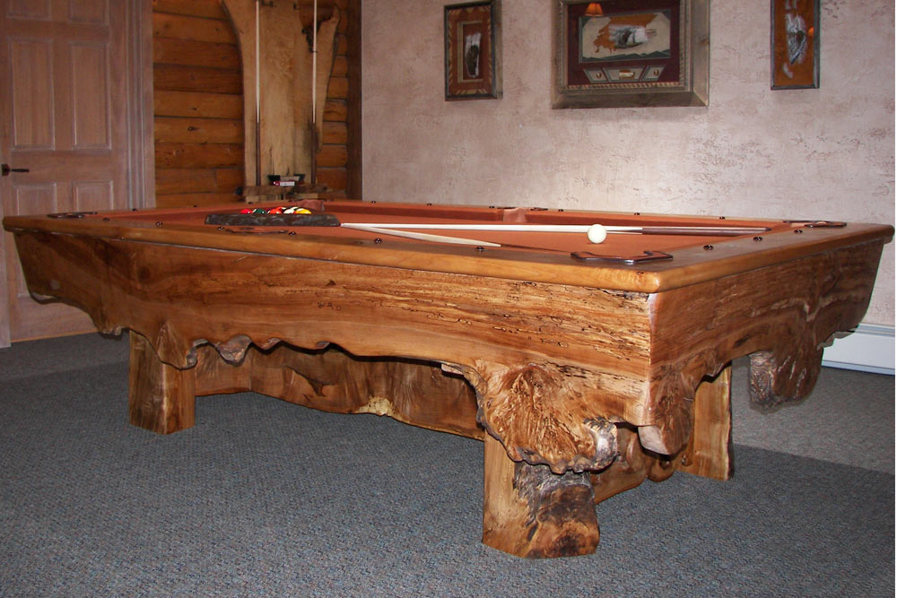 Custom Maple Pool Table