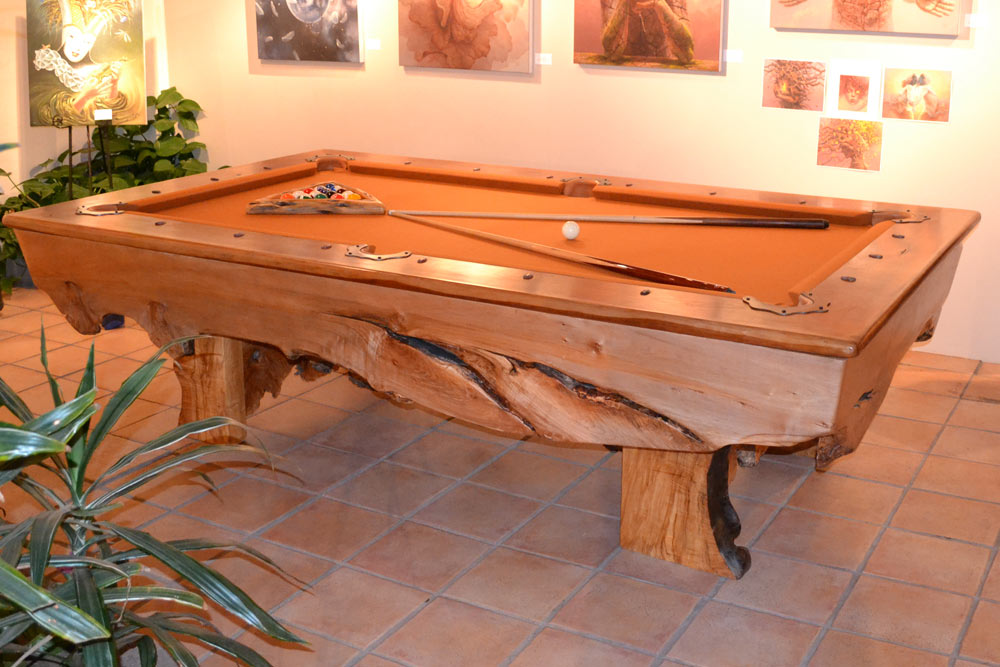 Custom Maple Pool Table