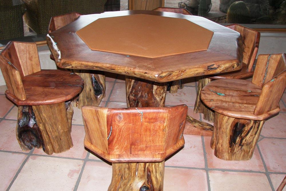 Custom Poker Table by Roaring Fork Custom Billiards