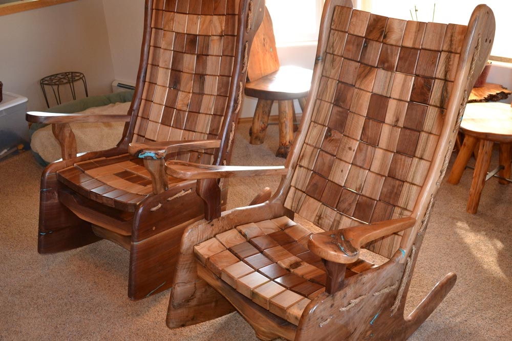 Custom Rocking Chairs by Roaring Fork Custom Billiards