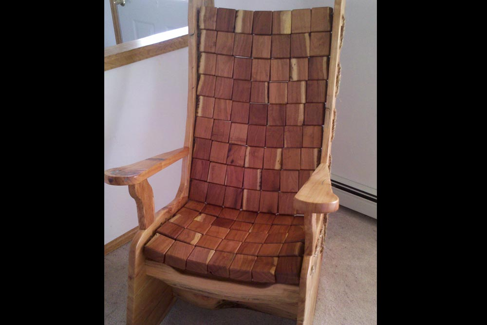 Custom Rocking Chair by Roaring Fork Custom Billiards