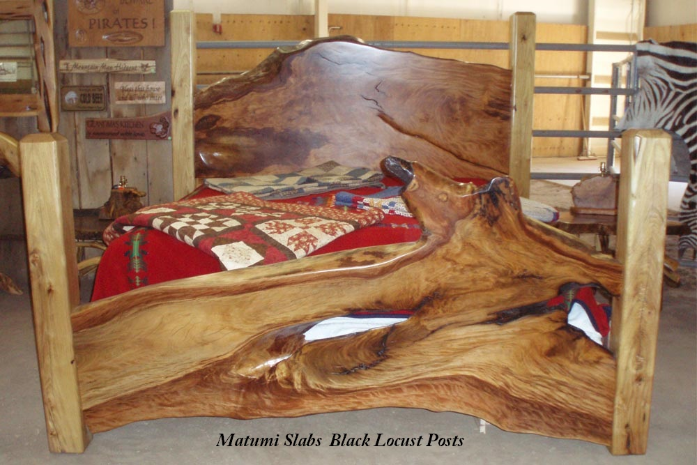 Wood Slab Bed
