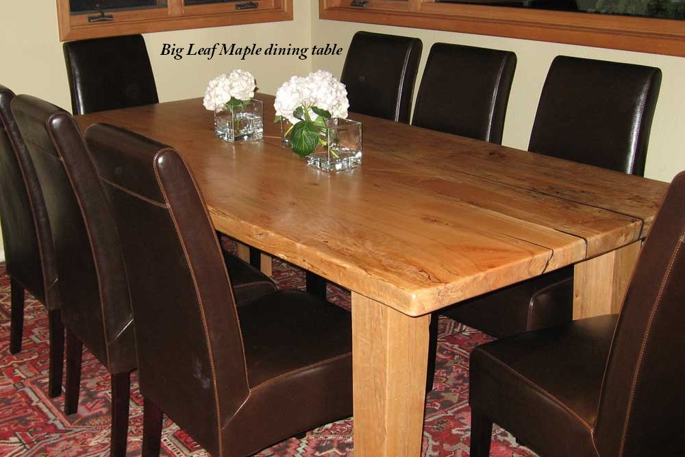 Custom Big Leaf Maple Dining Table