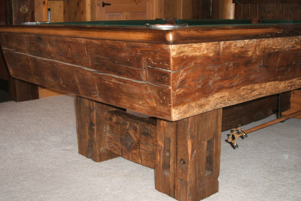 Reclaimed Timber Pool Table
