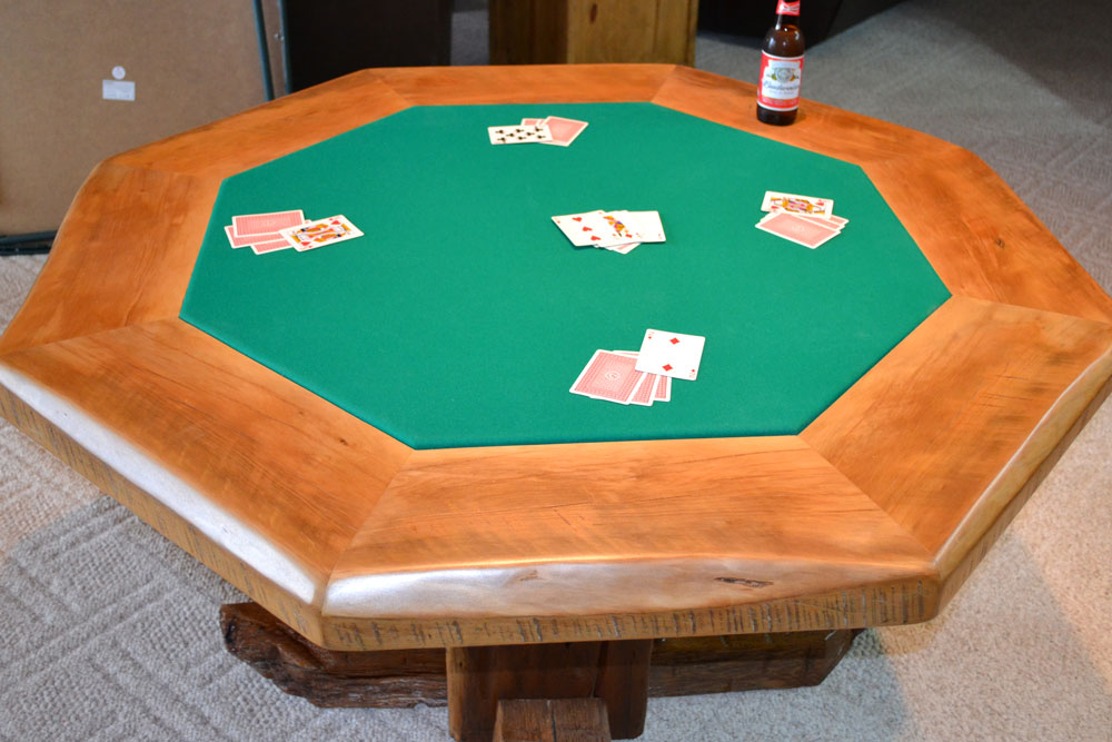 Poker Table by Roaring Fork Custom Billiards