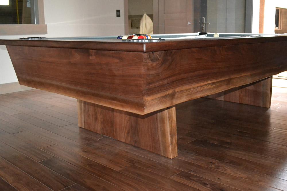 Walnut Pool Table by Roaring Fork Custom Billiards