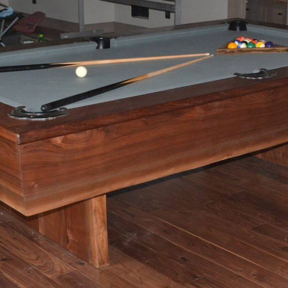 Walnut Pool Table by Roaring Fork Custom Billiards